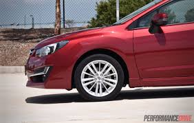 2016 subaru impreza wheels 2015 subaru impreza 2 0i s review video performancedrive