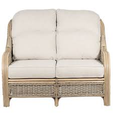 Rattan Two Seater Sofa Two Seat Conservatory Sofa Rattan Sofa Suffolk Candle And Blue