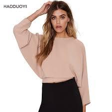 light pink top women s autumn women elegant tshirt light pink back lace up three quarter
