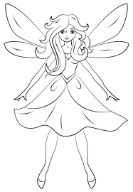 beautiful fairy coloring free printable coloring pages