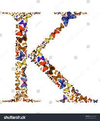 butterfly font white letter k stock photo 53595964
