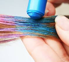 amazon com hair chalk metallic glitter temporary hair color