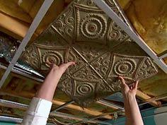 How To Put Up Tin Ceiling Tiles by Renewed Upon A Dream How To Paint Tin Ceiling Tiles Kitchen
