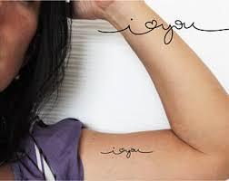 6 ampersand temporary tattoos sign temporary tattoo arrow