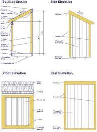 free lean to shed building plans garage workshop pinterest