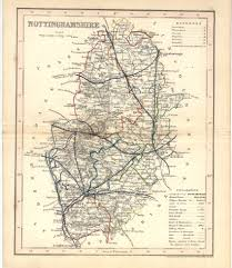 Nottingham England Map by Nottinghamshire Maps