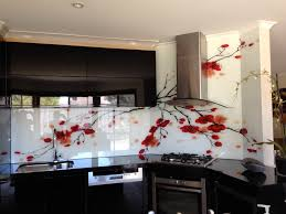 Residential Kitchen Design by Printed Glass Splashback For Residential Kitchen Original