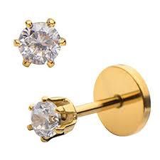 gold back earrings comfortable flat back earrings