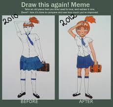 School Girl Meme - draw this again meme school girl by kawaiikaeru chan on deviantart