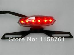 motorcycle license plate frame with led brake light free shipping motorcycle led tail light license plate holder bracket