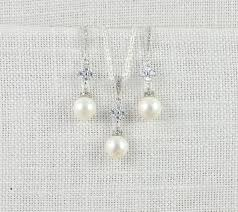 pearl necklace bridal jewelry images Swarovski pearl bridal jewellery set pearl earrings pearl jpg