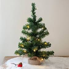 40cm pre lit battery operated mini tree by lights4fun
