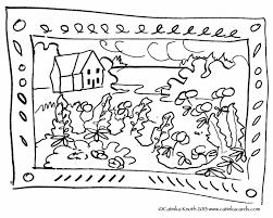 summer landscape coloring pages articlespagemachinecom
