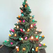 vintage christmas tree lights tall ceramic christmas tree retro ceramics vintage 1970s