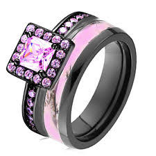 pink camo wedding rings sterling silver bands without stones band engagement wedding