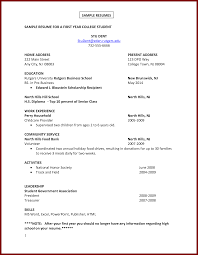 First Resume Templates First Resume Sample No Experience No Job Experience Required No