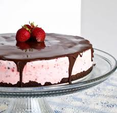 chocolate strawberry ice cream cake homemade food junkie