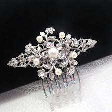 bridal hair comb wedding headpiece simple hair comb wedding