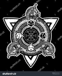 celtic cross tattoo art tshirt design stock vector 598709708