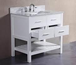 charlotte 36 inch white bathroom vanity w marble top u2014 belvedere