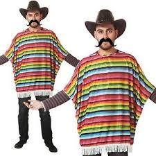 mexican bandit poncho men fancy dress wild west costume