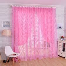 Sheer Pink Curtains 4 Colors Rose Voile Blackout Curtains Living Room Window Curtains