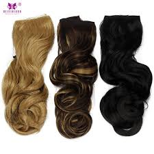 one clip in hair extensions aimei 22 wavy synthetic one clip in hair extensions