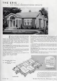 the gordon van tine erie a colonial bungalow oklahoma houses by