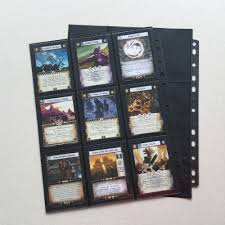 9 pocket pages 20pcs lot trading card protectors black album pages sided 9