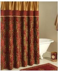Brown And Gold Shower Curtains Gold Shower Curtain Free Home Decor Oklahomavstcu Us