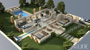 home floor plans 3d luxury villa floor plans fl india pool 3d plan bungalow house