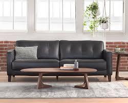 Mid Century Modern Leather Sofa by Gregata Leather Sofa U2013 Daniafurniture Com