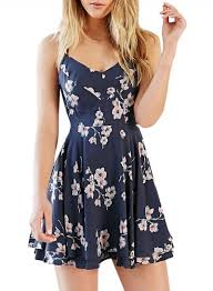 summer dresses summer women s fashion spaghetti floral print backless mini