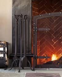 small geometric single panel flat fireplace screen cool panel