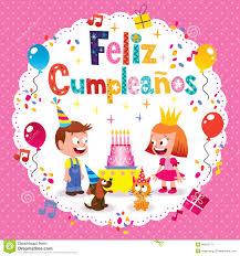 imagenes cumpleaños niños feliz cumpleanos feliz cumpleaños en tarjeta española de los niños