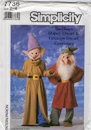 Dopey Dwarf Halloween Costume Simplicity 7736 Boys Girls Toddlers Dwarf Costume Snow White