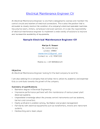 Sample Electronics Engineer Resume Electrical Maintenance Resume Sample Free Resume Example And
