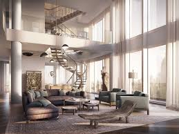 modern penthouses fabulous modern living room design ideas using high ceiling