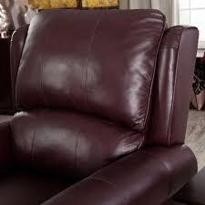 Upholstered Club Chairs by Burgundy Top Grain Leather Upholstered Wing Back Club Chair Recliner
