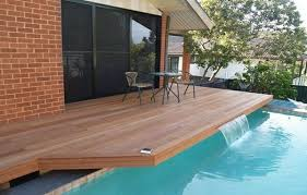 architecture backyard design with small round pool feat brown