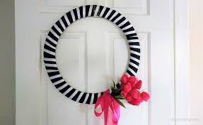 diy wire ribbon wreath for diy inspired