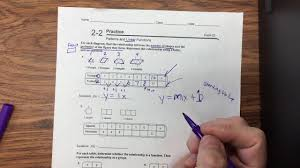 2 2 practice patterns and linear functions youtube
