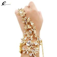 hand bracelet jewelry images Crystal bridal bracelet gold silver wedding dress accessories hand jpg