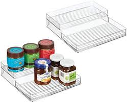 kitchen food storage cupboard mdesign plastic kitchen food storage organizer shelves spice rack holder for cabinet cupboard countertop pantry holds jars baking supplies