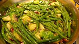 cuisine haricot vert plate roast brussel sprouts and haricot vert