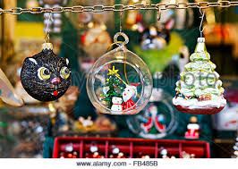German Christmas Market Decorations by Christmas Market Decorations Munich Germany Europe Stock Photo