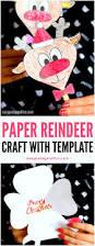 paper reindeer craft with printable template reindeer craft