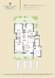 1600 sq ft floor plans emerald floors premier prithvi estates
