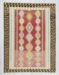 Large Kilim Rugs Handwoven Vintage Decorative Modern Large Turkish Kilim Rug 0236