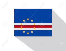 Flag Cape Cape Verde Long Shadow Flag Royalty Free Cliparts Vectors And